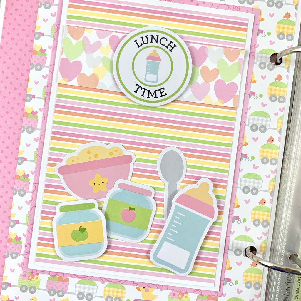 Preassembled Baby Girl Scrapbook Album