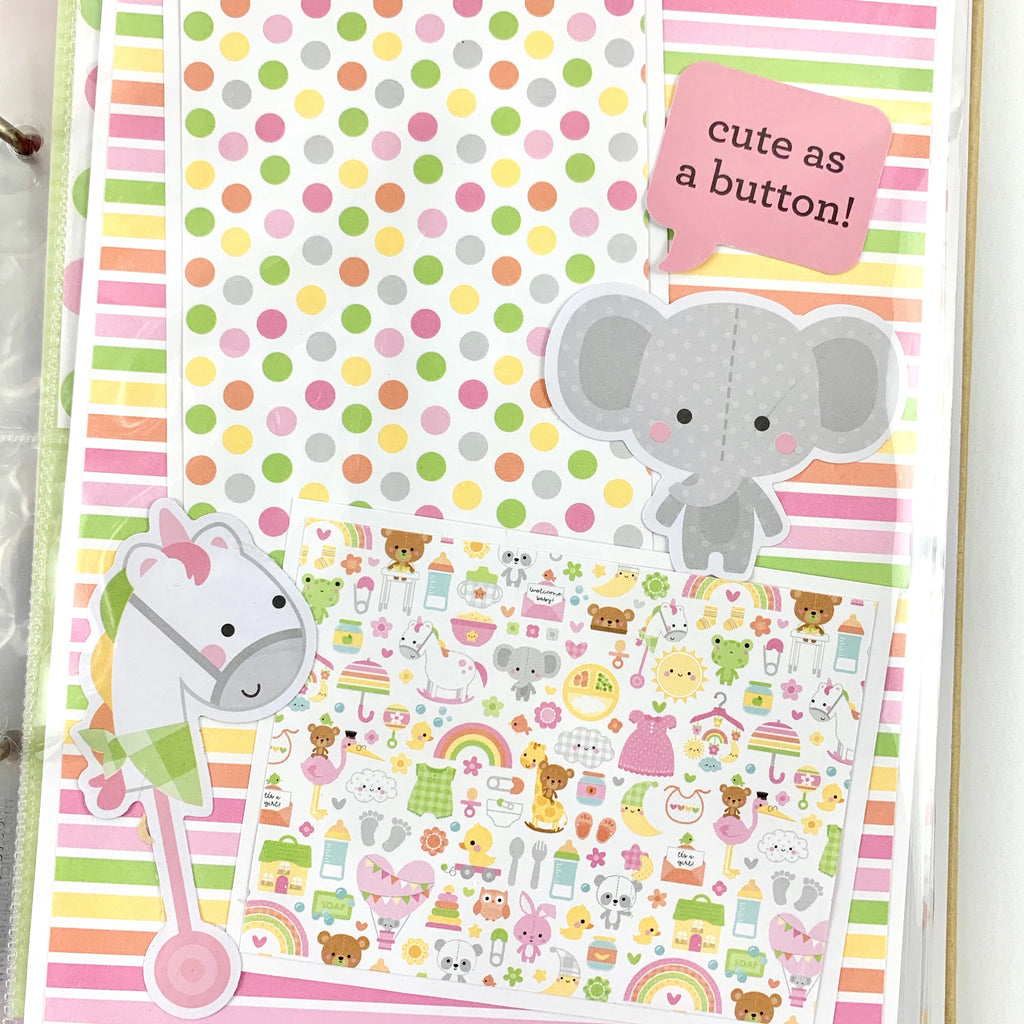 Baby Girl Scrapbook Album Kit