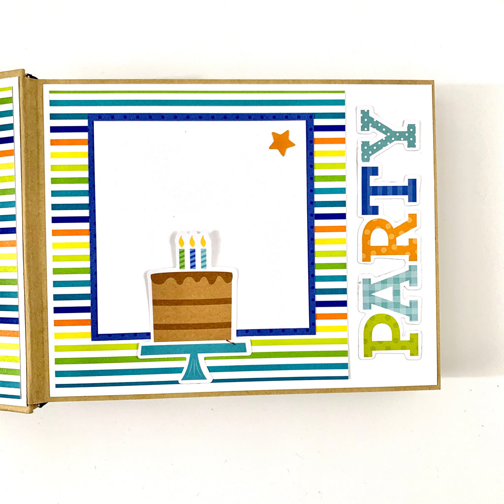 Birthday Boy Preassembled Mini Scrapbook Album