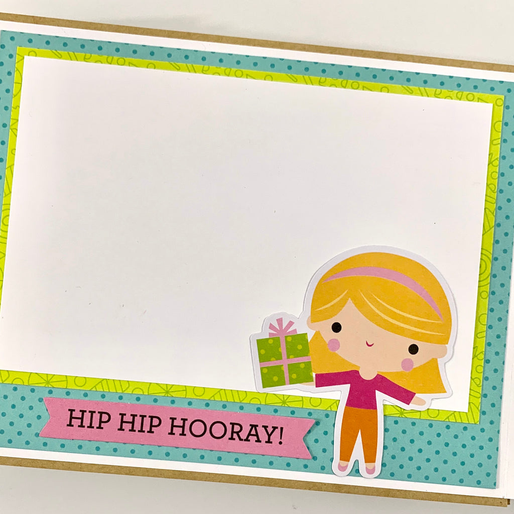 Preassembled Birthday Girl Mini Scrapbook Album