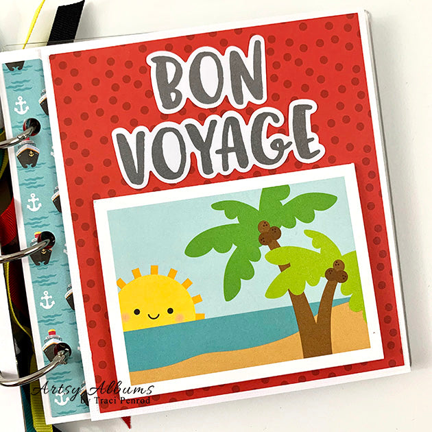Travel Cruise Scrapbook Mini Album Kit