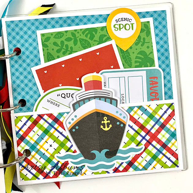 Preassembled Travel Cruise Scrapbook Mini Album