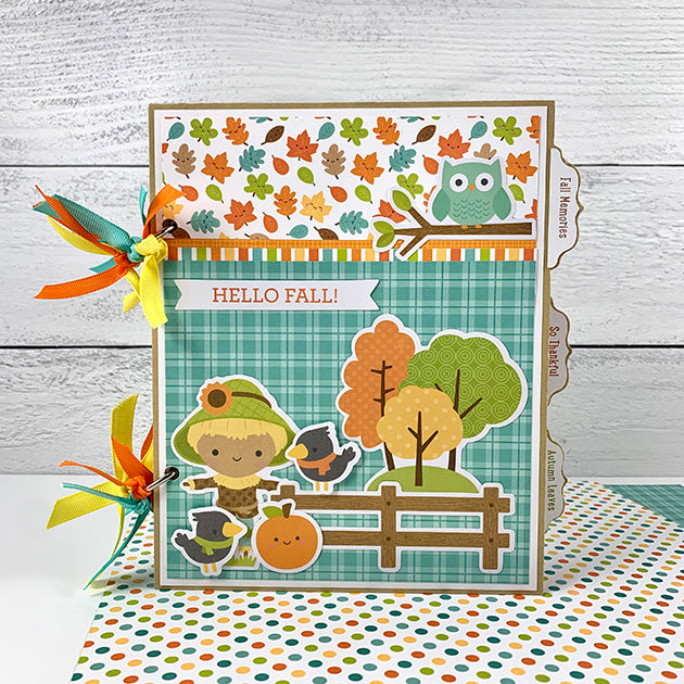 Preassembled Hello Fall Scrapbook Album with Bonus Greeting Cards