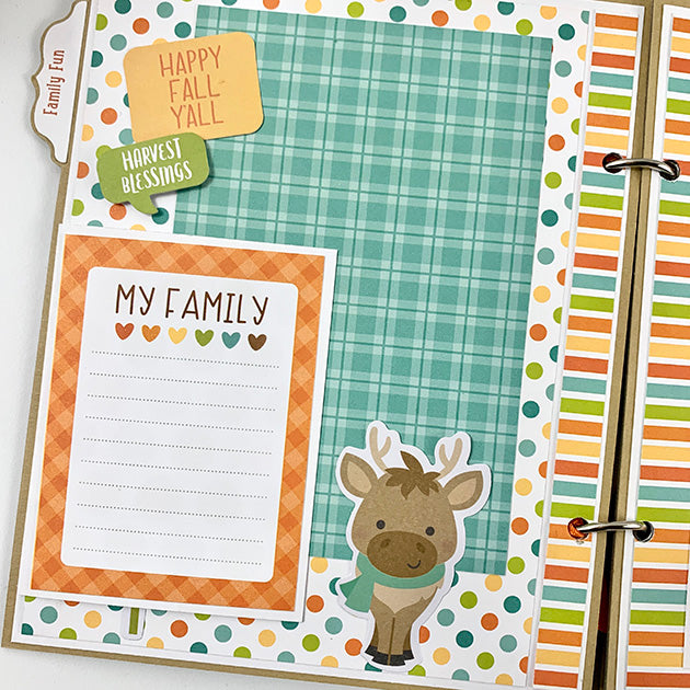 Hello Fall Scrapbook Album Kit with Bonus Card Kit