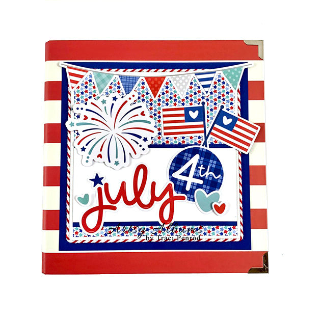 PREASSEMBLED July 4th Scrapbook Mini Album Kit