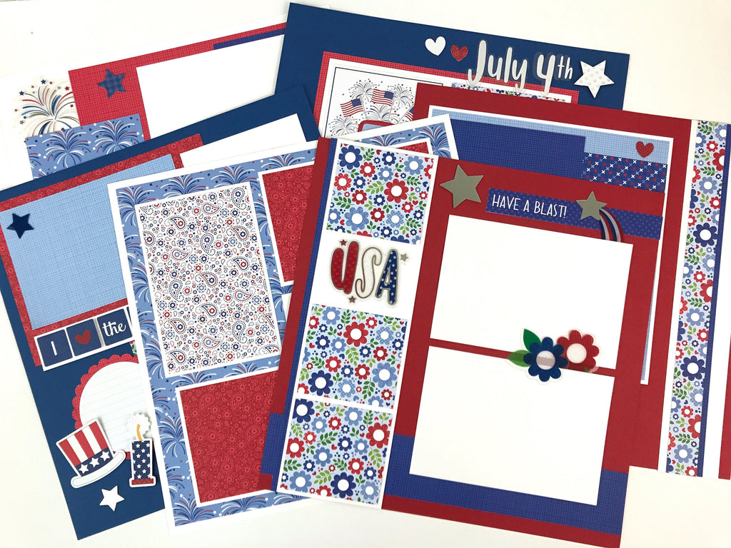 12x12 July 4th Layout Instructions, Digital Download