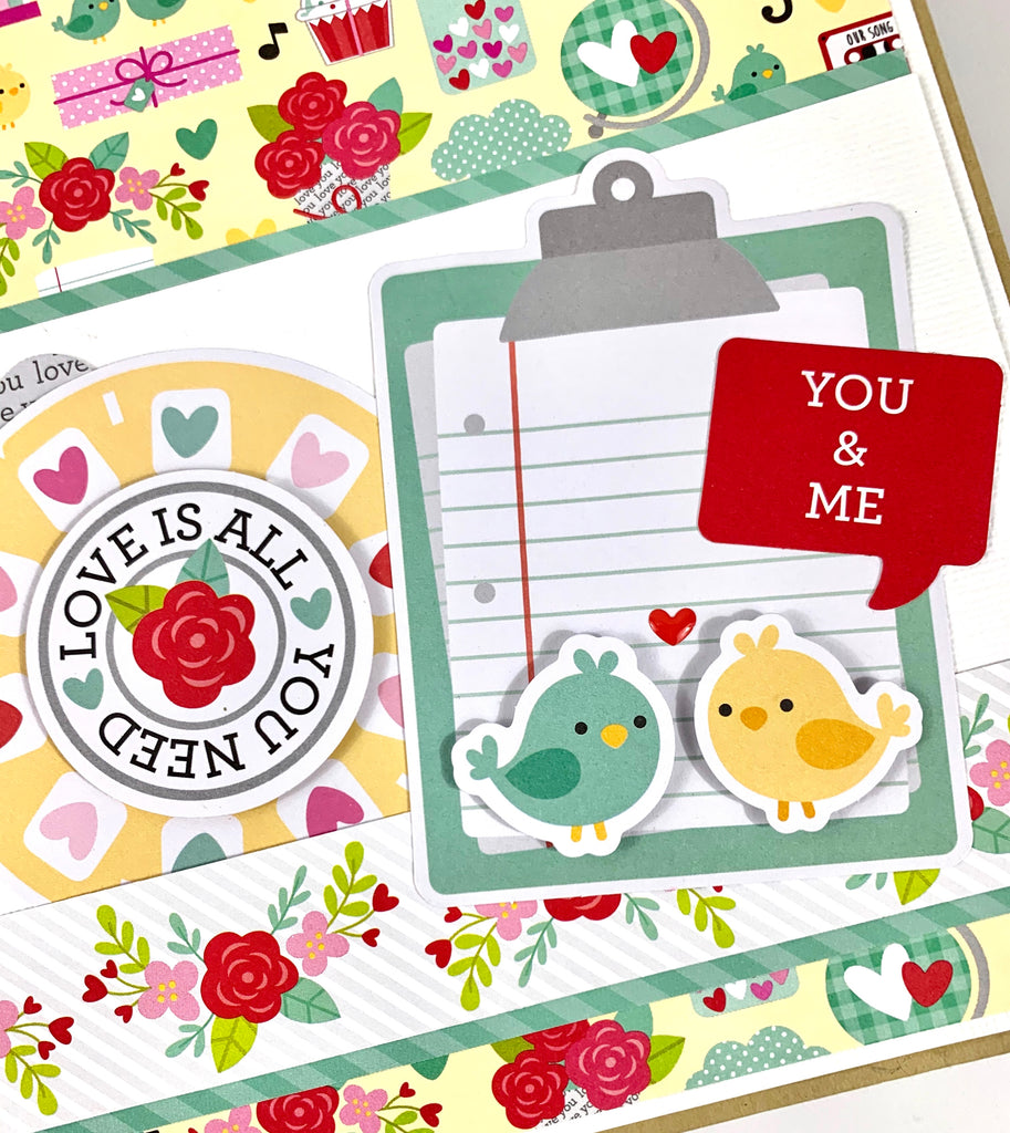 You and Me Love Notes Scrapbook Album Kit