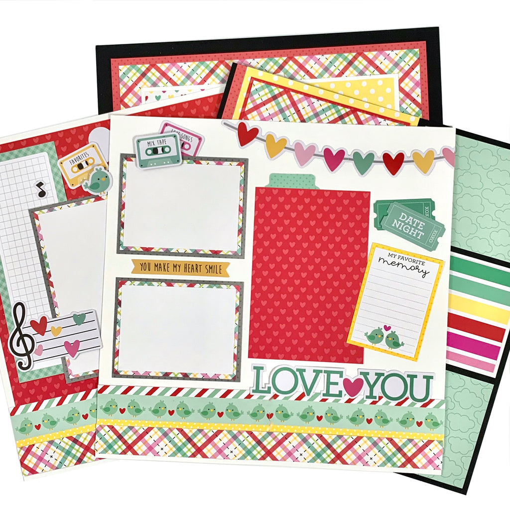 Love Notes Page Layout Kit 4 pages