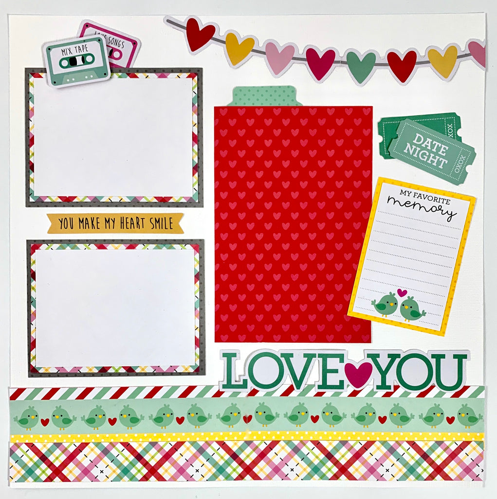 12x12 Love Notes Layout Instructions, Digital Download
