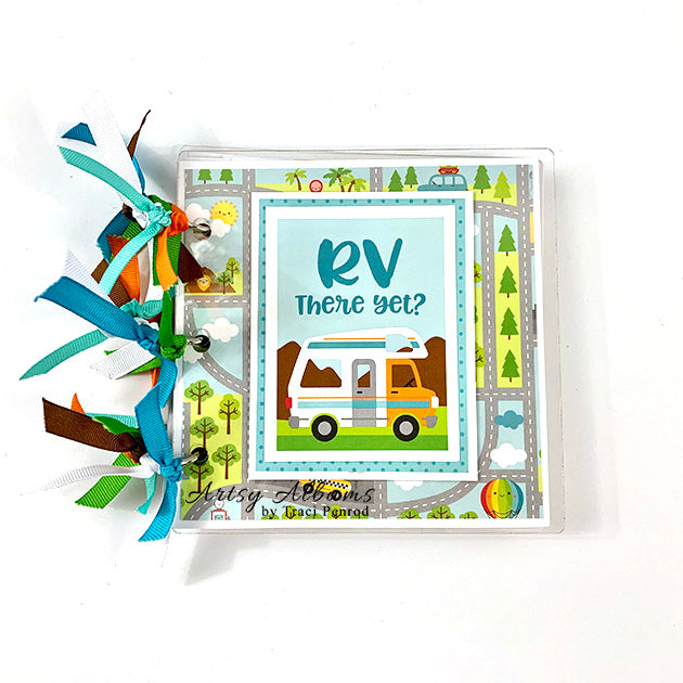 Preassembled Travel RV Camping Scrapbook Mini Album
