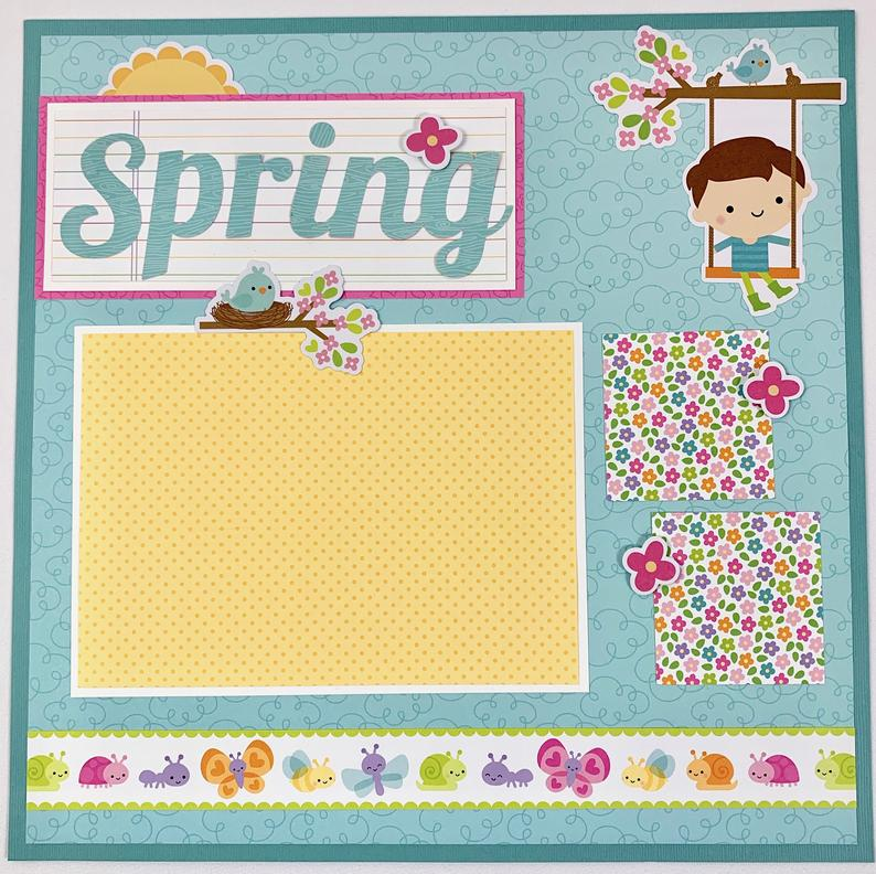 12x12 Spring Layout Instructions, Digital Download