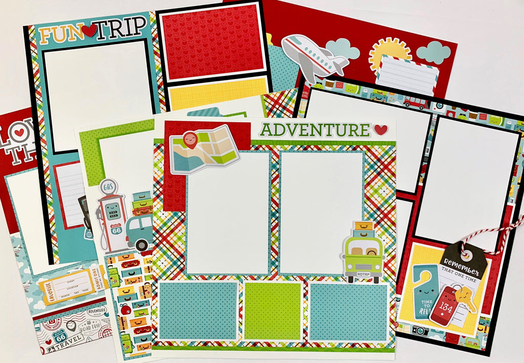 12x12 Vacation Memories Layout Instructions, Digital Download