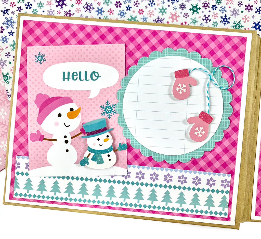 Winter Fun Preassembled Mini Scrapbook Album