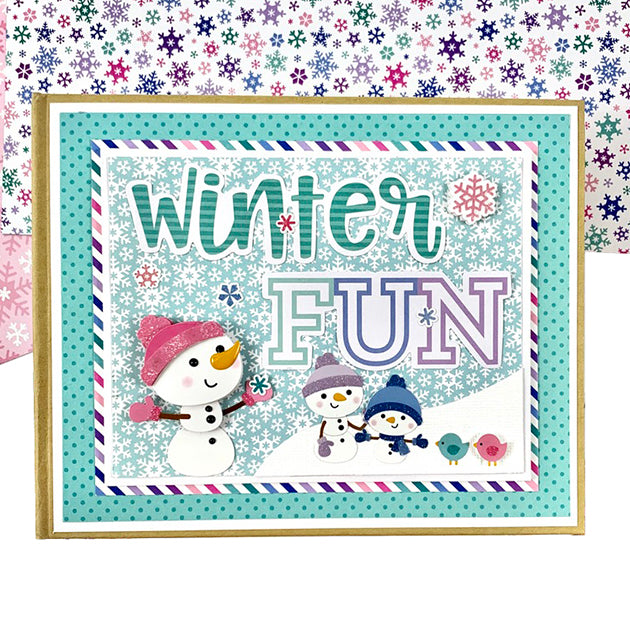 Winter Fun Mini Scrapbook Album