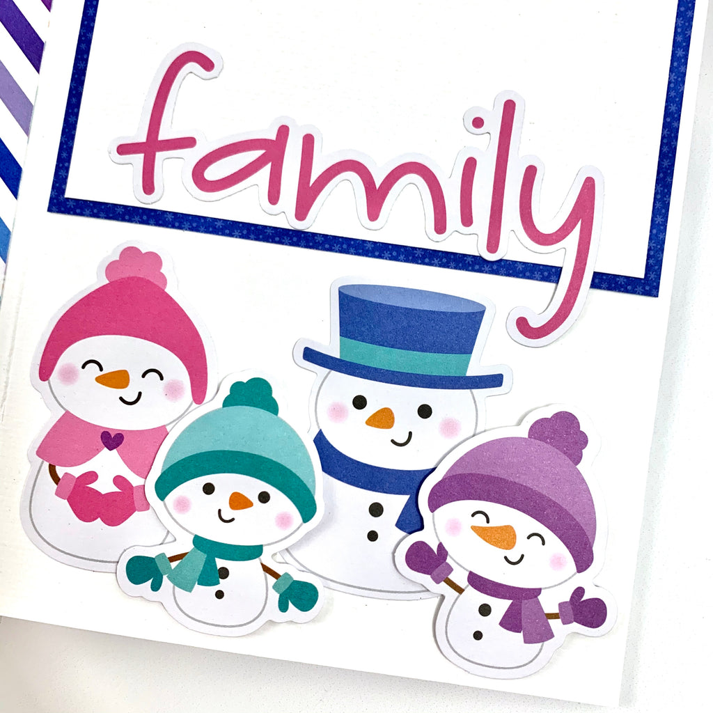 Snow Happy Together Scrapbook Album