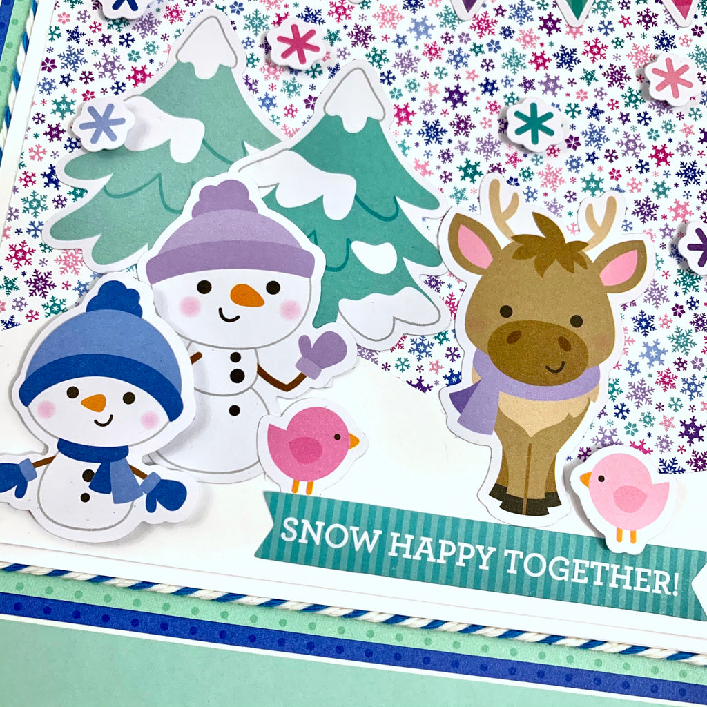 Snow Happy Together Preassembled Scrapbook Album