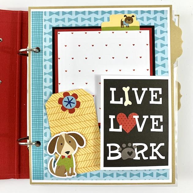 Dog Scrapbook Album Instructions, Digital Download