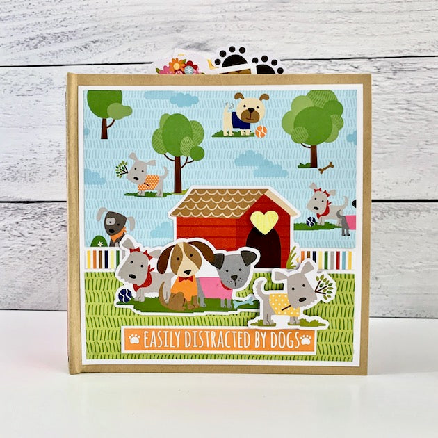 Easily Distracted By Dogs Scrapbook Album Kit