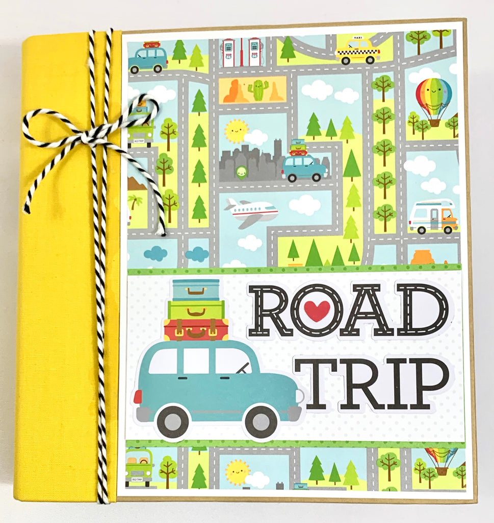 Road Trip (Travel) Vacation Album Instructions, Digital Download
