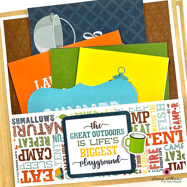 Preassembled Outdoor Adventure Scrapbook Album