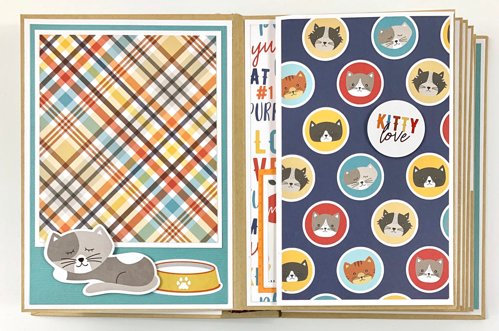 Cat Kitten Preassembled Scrapbook