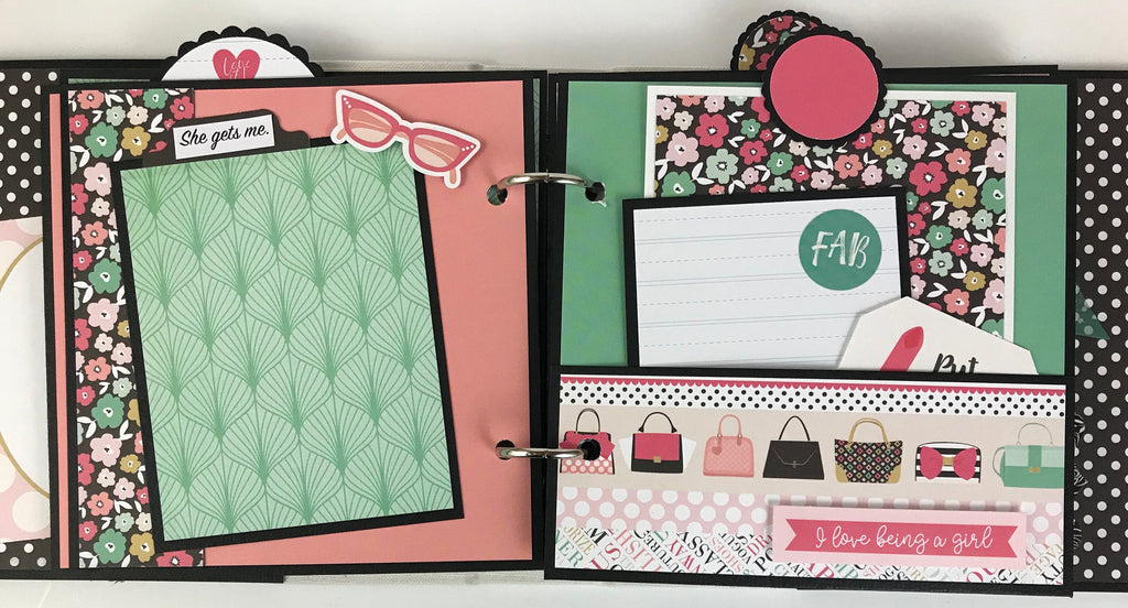Friend Fashion Scrapbook Instructions Only, Digital Download