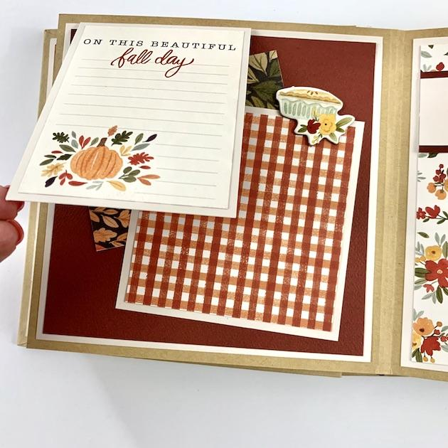 Fall Autumn Scrapbook Album Instructions, Digital Download