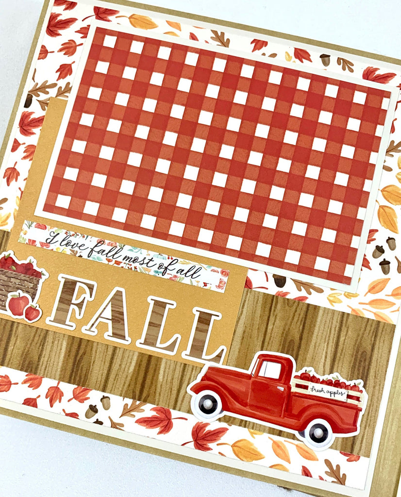 Fall Autumn Scrapbook Album 8x8