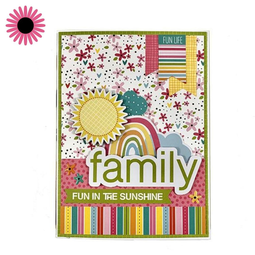 Family Folio Scrapbook Instructions, Digital Download