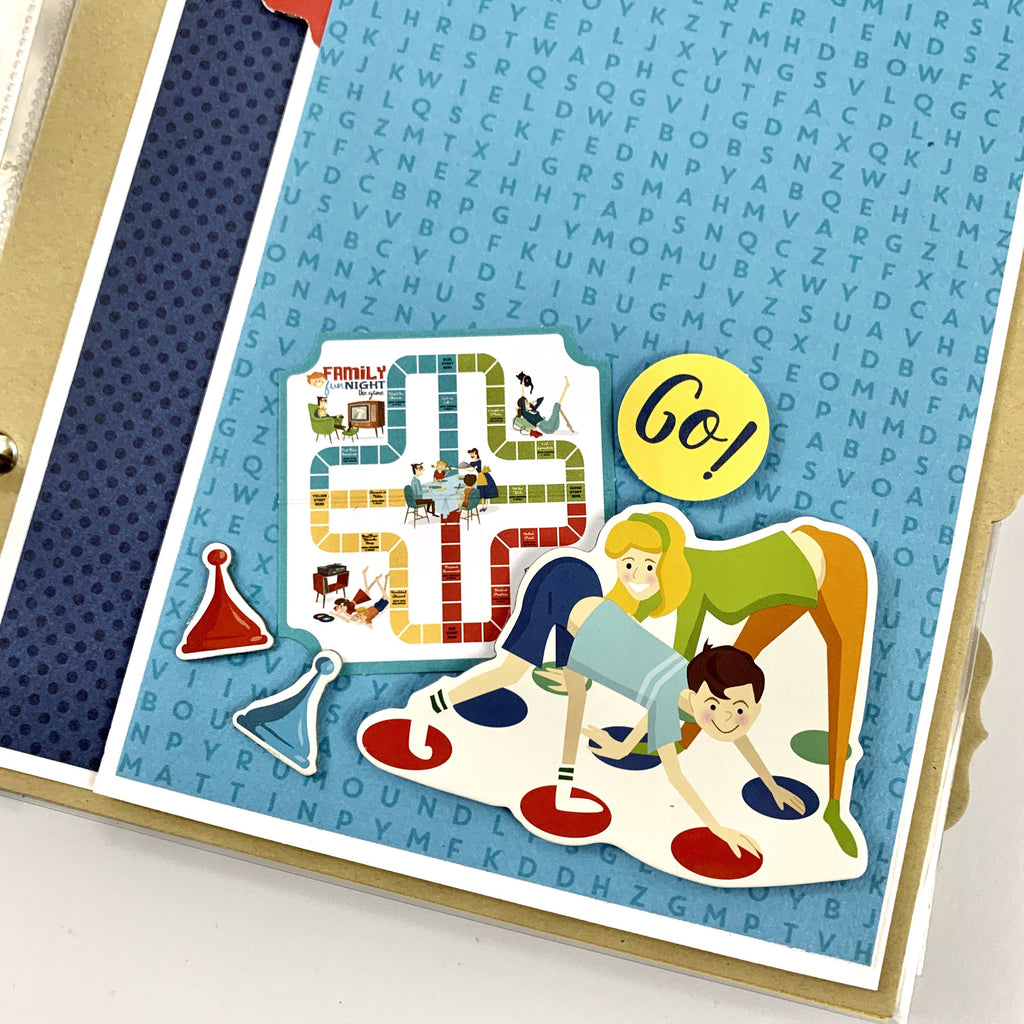 Family Time Scrapbook Album Instructions, Digital Download