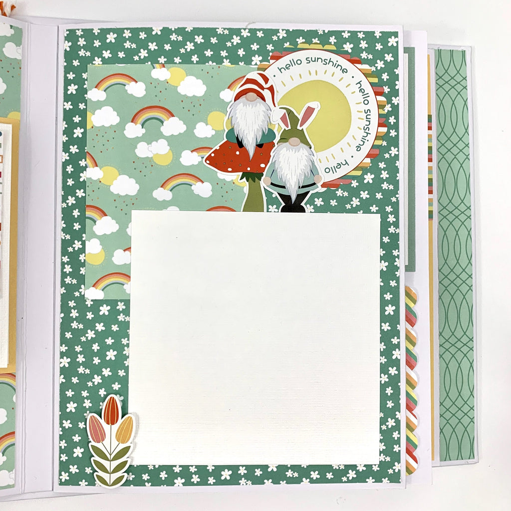Hangin' With My Gnomies Scrapbook Album Instructions, Digital Download