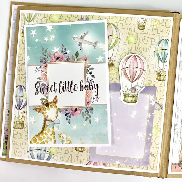 Preassembled Hello Baby Scrapbook Album