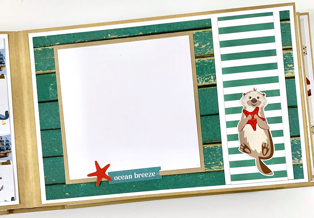 Seaside Adventure Preassembled Scrapbook Album