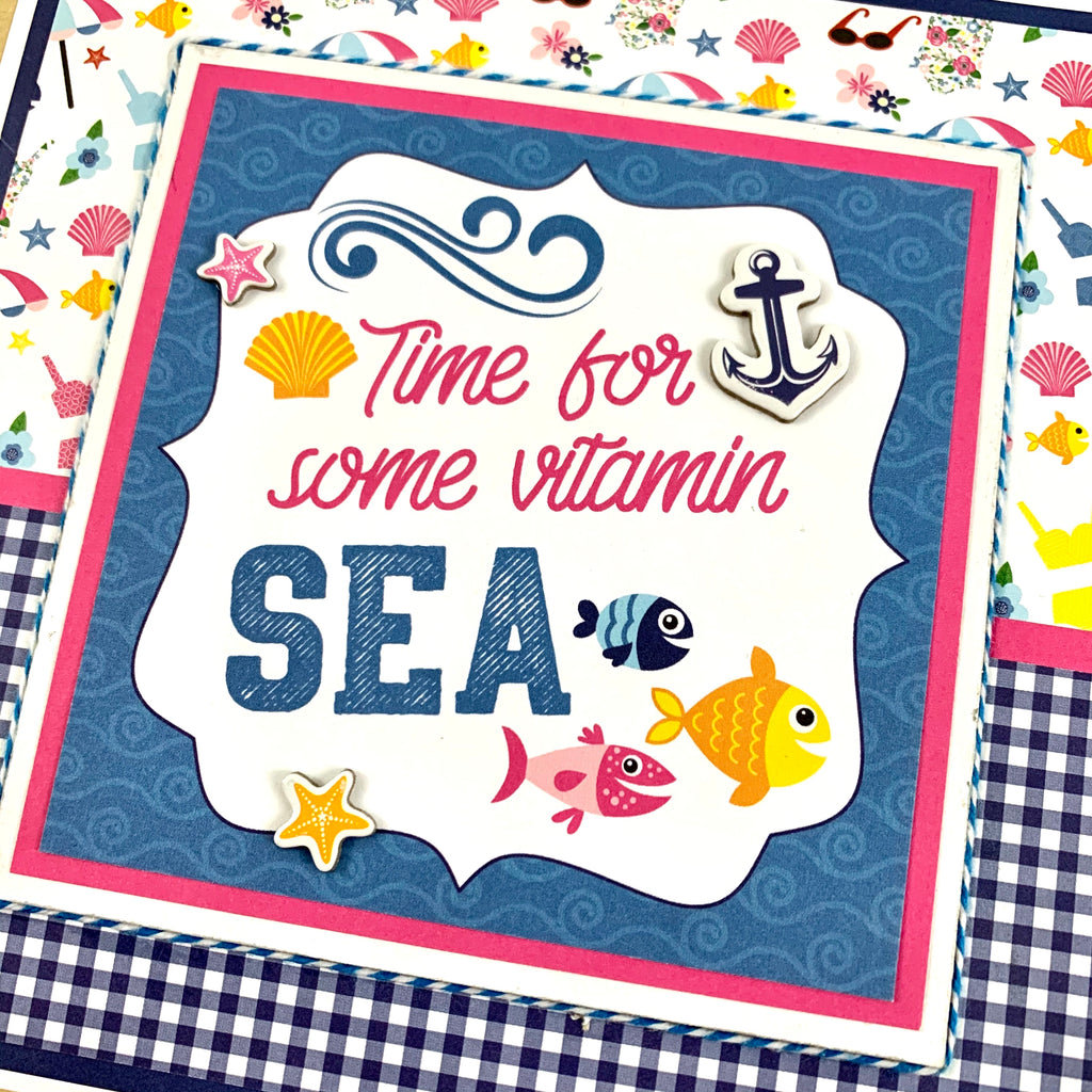 Time For Some Vitamin SEA Scrapbook Album Kit