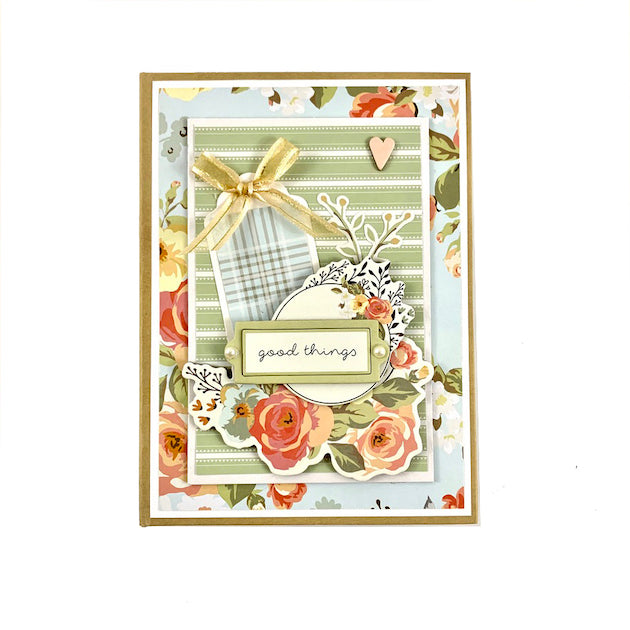 Good Things Scrapbook Album Kit Farmhouse Friends Family Gardens Spring