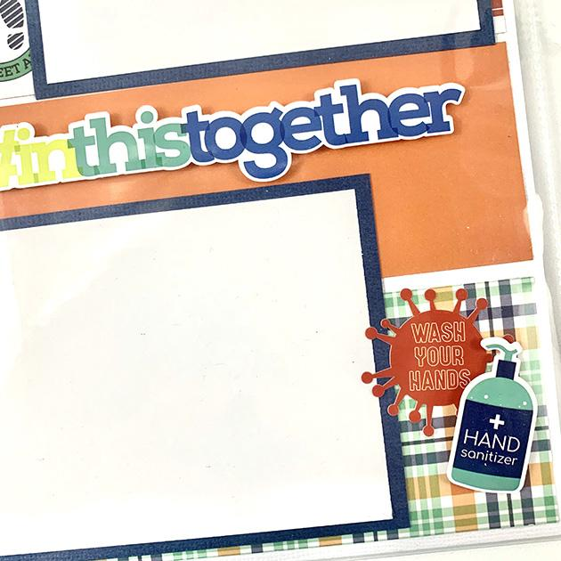 Together At Home, Quarantine ADD-ON Scrapbook Pages, Digital Instructions