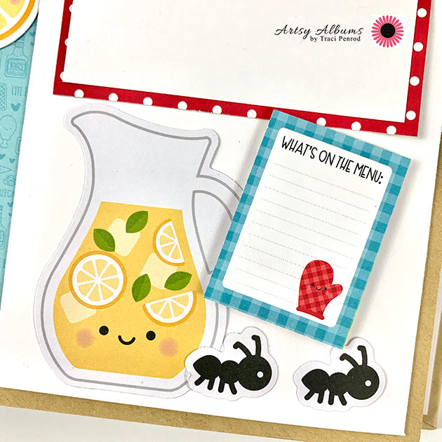 Summer Picnic Scrapbook Album Instructions, Digital Download