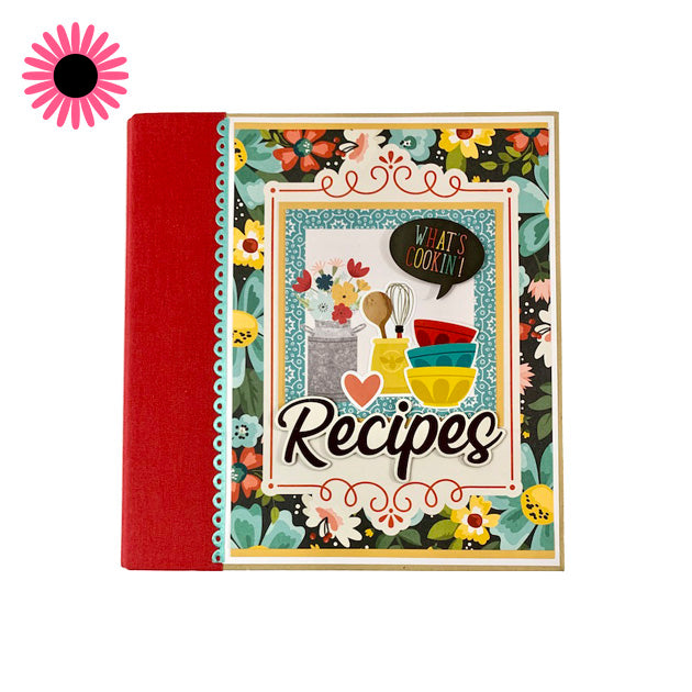 What's Cookin' Recipe Scrapbook Instructions, Digital Download