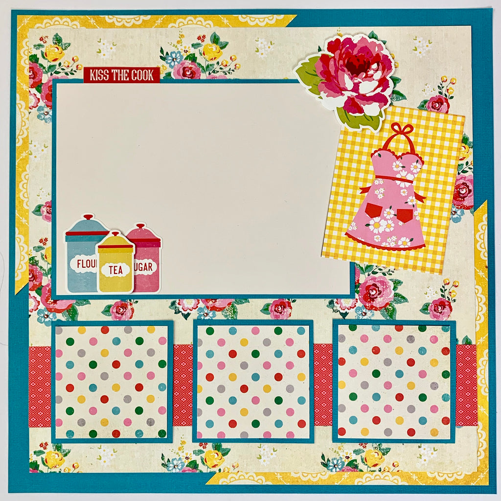 12x12 Recipe Layout Instructions, Digital Download