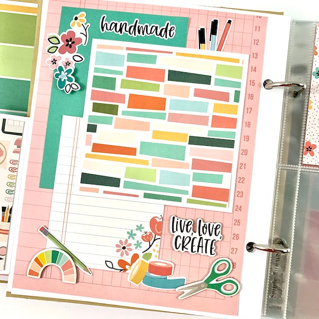 Crafty Girls Rock Preassembled Scrapbook Album
