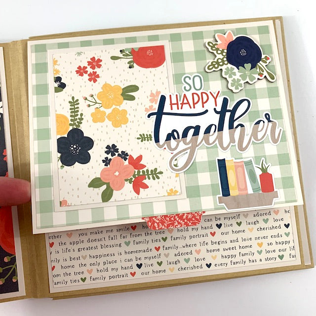 Preassembled Our Home Family Scrapbook Album 6x6