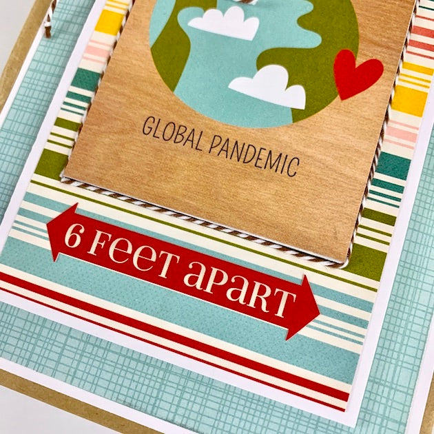6 Feet Apart Scrapbook Album Kit