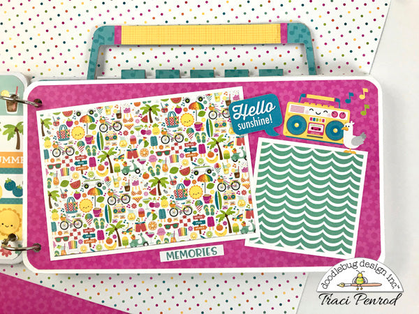 Summer Radio Scrapbook Album Instructions, Digital Download