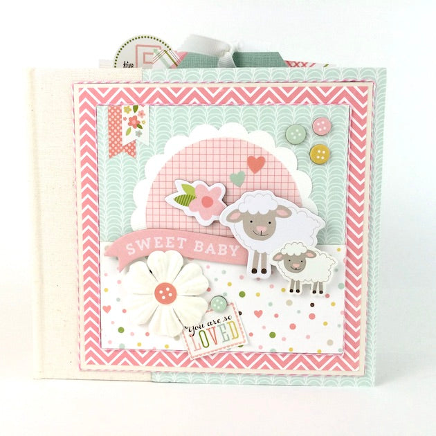 Sweet Baby Girl Scrapbook Album Instructions, Digital Download