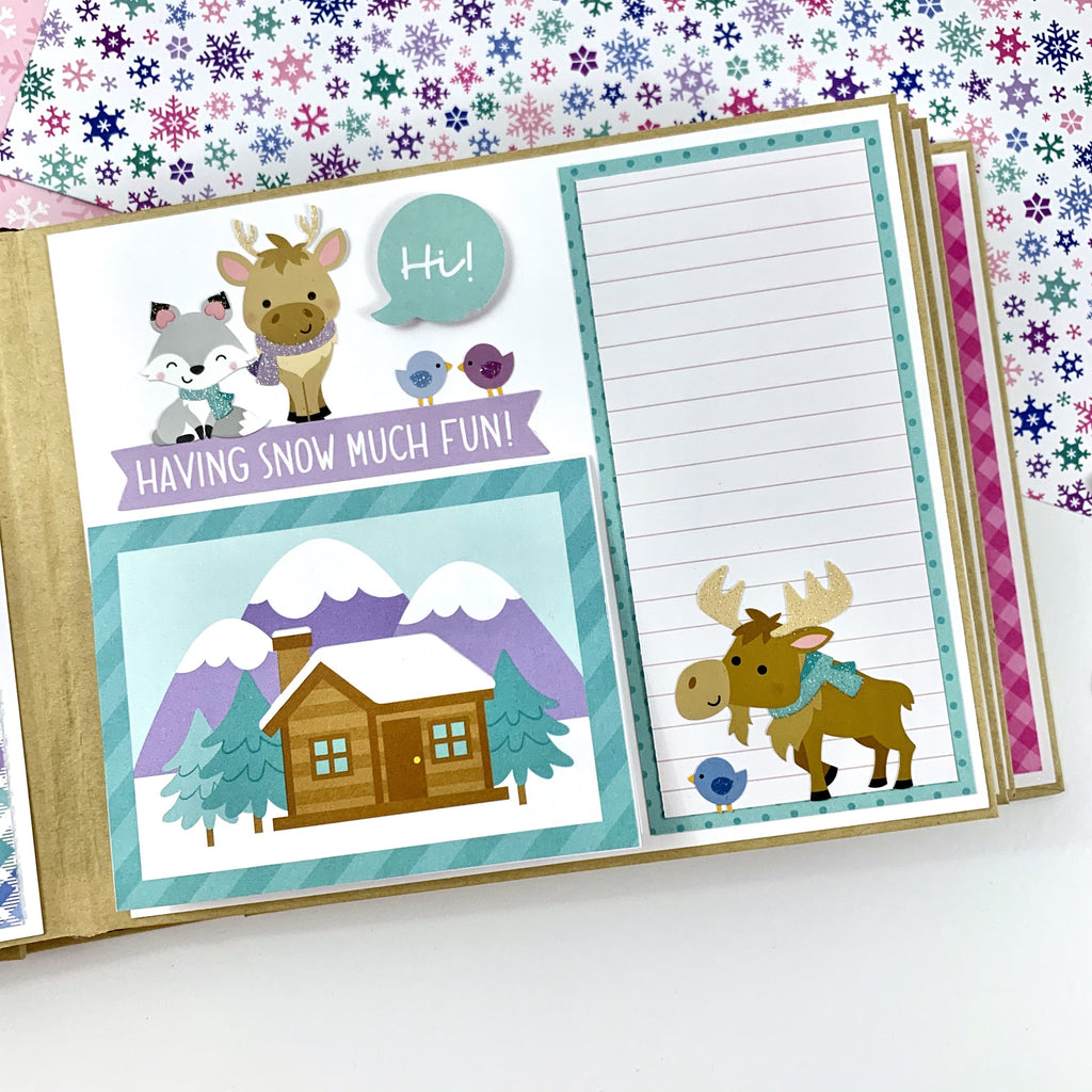 Winter Fun Scrapbook Album Instructions, Digital Download