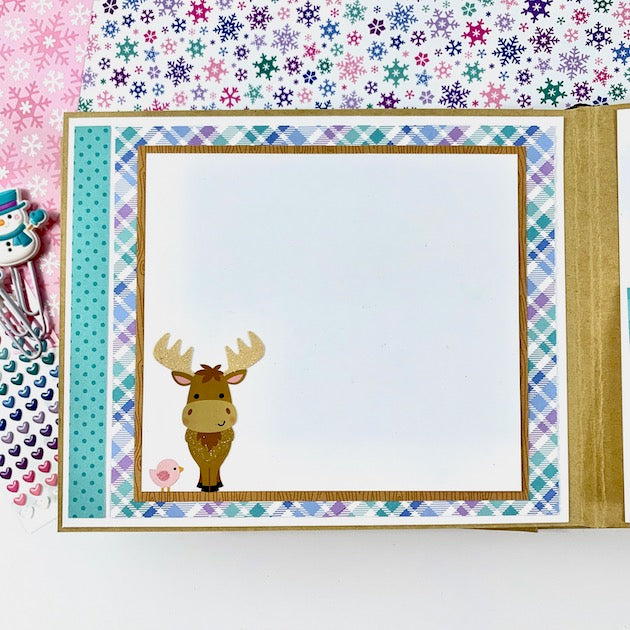 Winter Fun Scrapbook Album, Digital Download