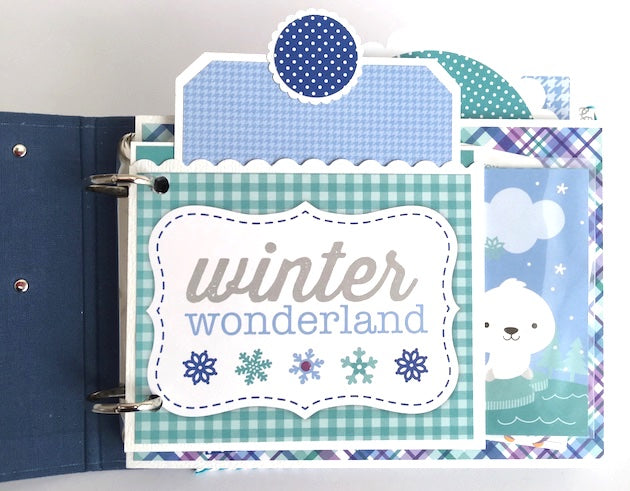 Winter Polar Pals Scrapbook Album Instructions