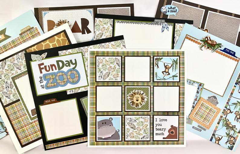 12x12 Day At The Zoo Layout Instructions, Digital Download