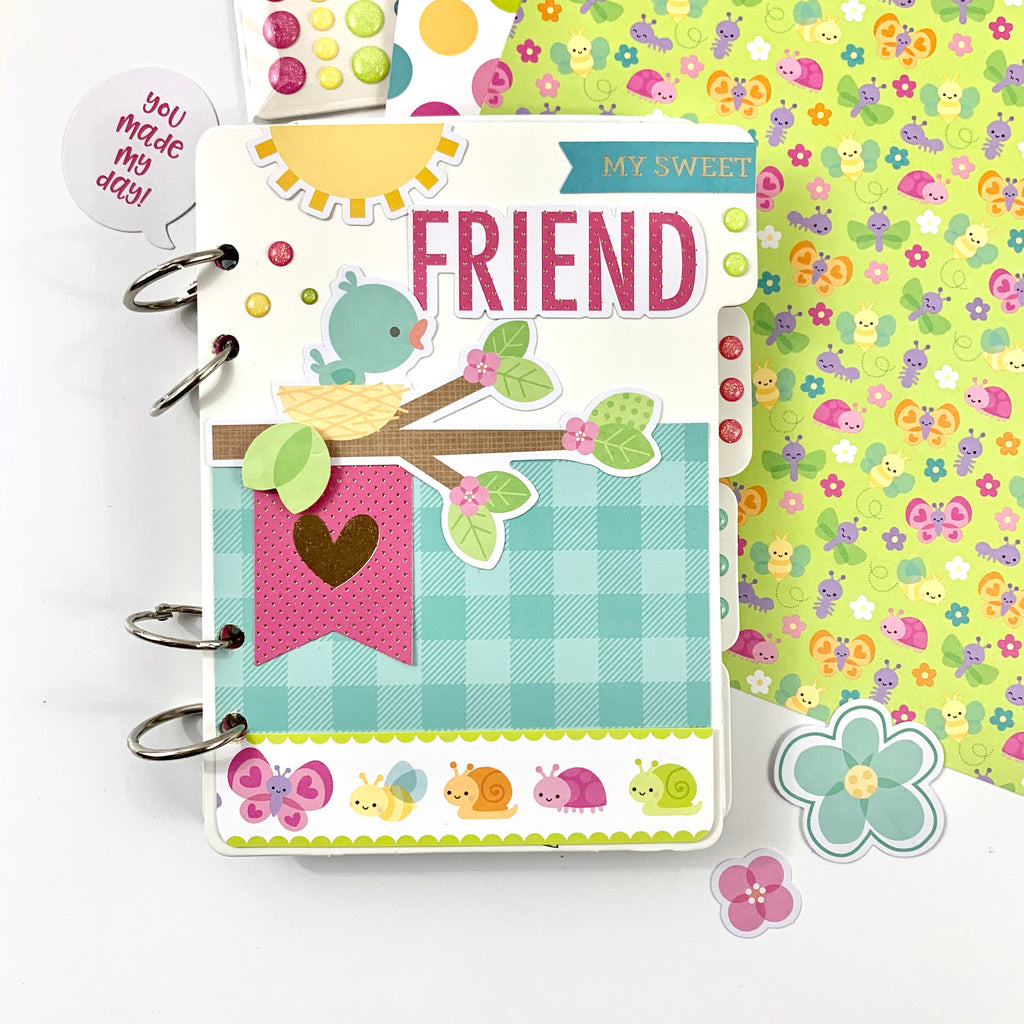 Spring Friend Mini Scrapbook Album Kit