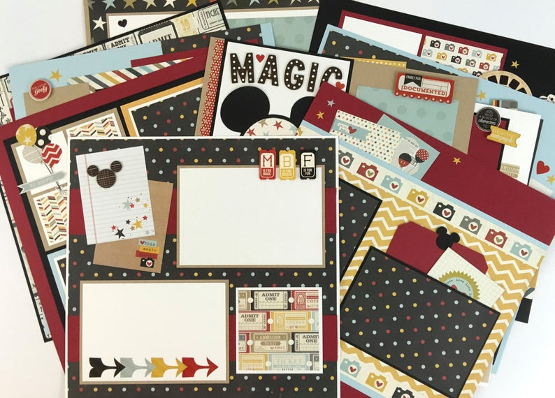 12x12 Disney themed Layout Instructions, Digital Download